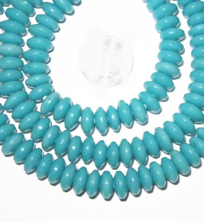 Czech turquoise disk bohemian beads