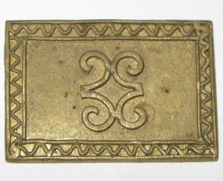 African antique akan 18th /19th century gold weight-5