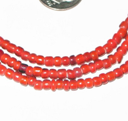 Venetian African White heart glass Trade Beads