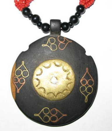 Authentic Handmade West African Ebony Necklace