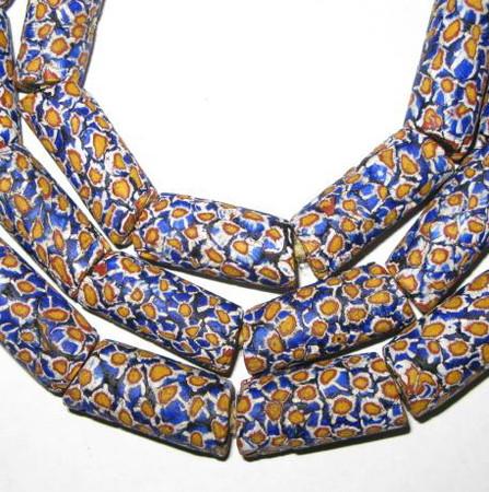antique Millefiori Venetian glass trade beads-1