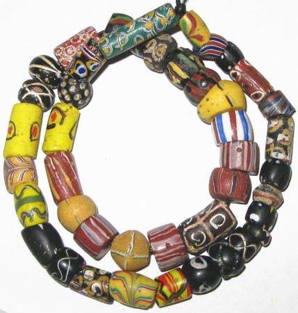 Antique Venetian Wound Glass Trade Beads