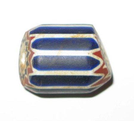 antique old Venetian 6 layer Chevron glass trade bead-9