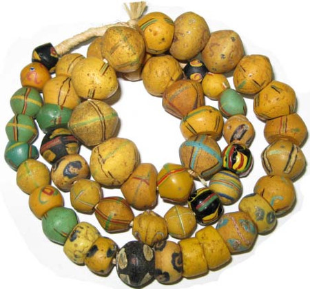 Venetian Antique King Wound mixed bicone Glass Trade beads