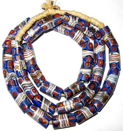 Matched Millefiori Antique Venetian glass trade beads