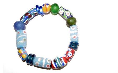 Ghana Handmade unisex krobo recycled Glass Beads Fancy Bracelet-16