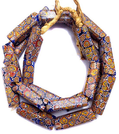 Antique Matched Millefiori Venetian glass trade beads