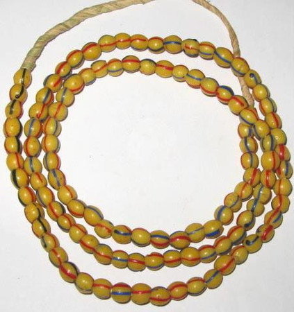 Round old Venetian antique glass trade beads