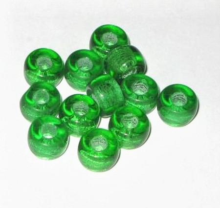vintage art Czech emerald Bohemian glass beads