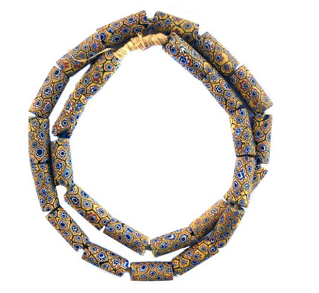 Matched Millefiori Venetian glass trade beads
