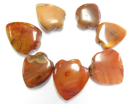7 PCS Antique African Agate Stone Pendant trade beads Pendants