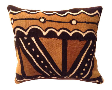 African Art African mud cloth bogolan pillow