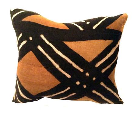 African mud cloth bogolan pillow