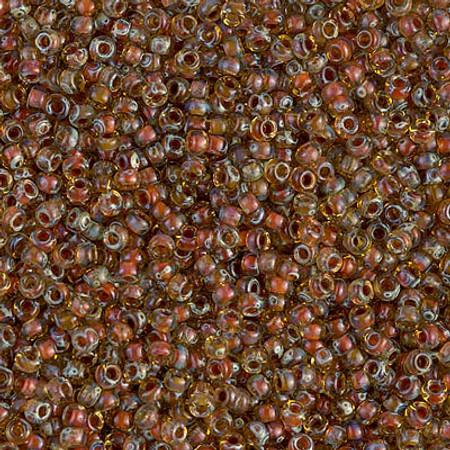 11/0 Seed Beads Miyuki Translucent picasso Lt topaz Glass beads