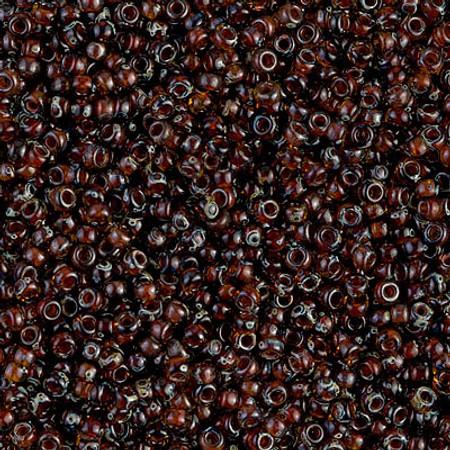 11/0 Seed Beads Miyuki Translucent picasso dk topaz Glass beads