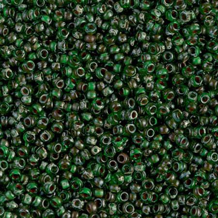 11/0 Seed Beads Miyuki Tr picasso green Glass beads