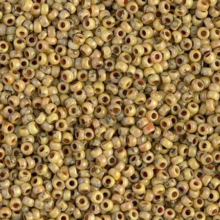 11/0 Seed Beads Miyuki picasso Opaque Yellow Glass beads