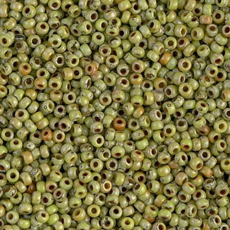 11/0 Seed Beads Miyuki picasso Opaque Chartreuse Glass beads
