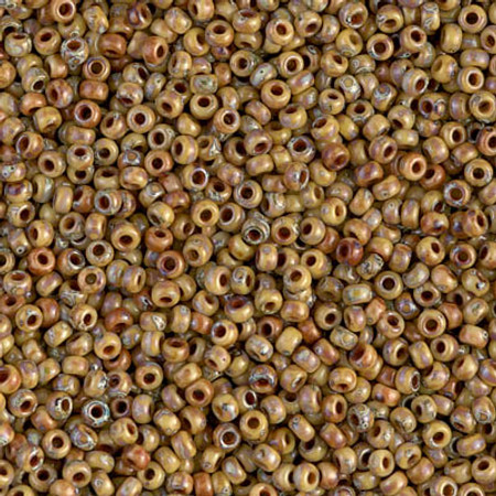 11/0 Seed Beads Miyuki picasso Opaque brown Glass beads