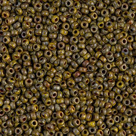 11/0 Seed Beads Miyuki picasso Op dk Yellow Glass beads