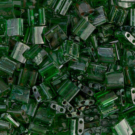 Seed Beads Miyuki Tila Translucent Picasso Green Glass Beads