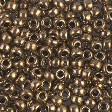 6/0 Seed Beads Miyuki Metallic Dark Bronze Glass beads