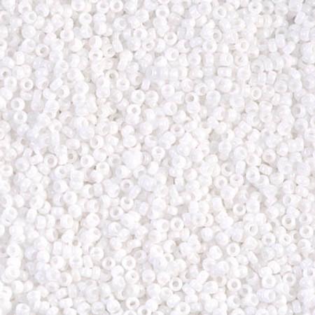 15/0 Seed Beads Miyuki Snow White Glass beads
