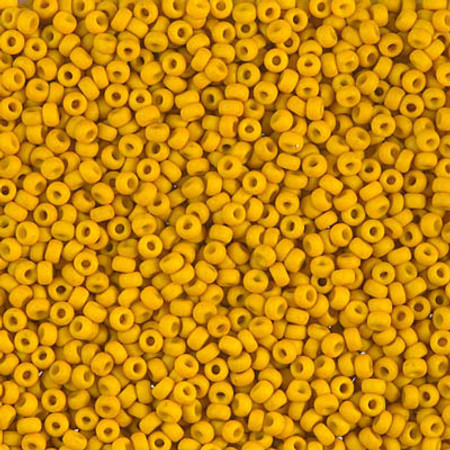 11/0 Seed Beads Miyuki Matte Op Mustard Glass beads
