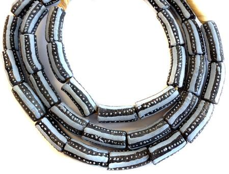 African fancy Krobo Powderglass Trade Beads