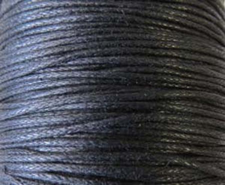 5 Yards Black Genuine Waxed Cotton Cord