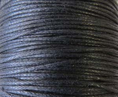 Black Genuine Waxed Cotton Cord
