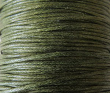 5 Yard Olive Genuine Waxed Cotton Cord