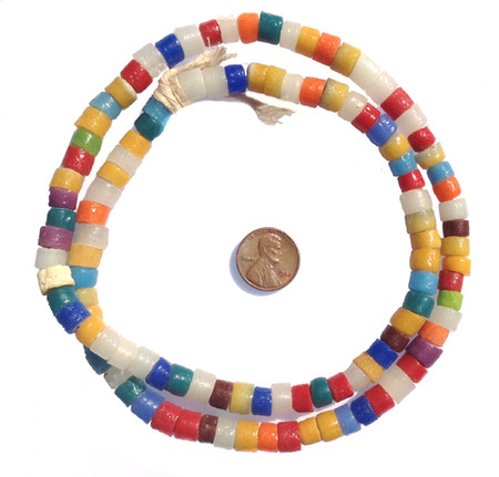 multi colored krobo powderglass trade beads