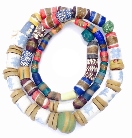 Mixed Ghana Recycled Glass Trade Beads