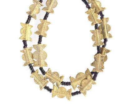 Baule African tribe handmade brass Trade Beads