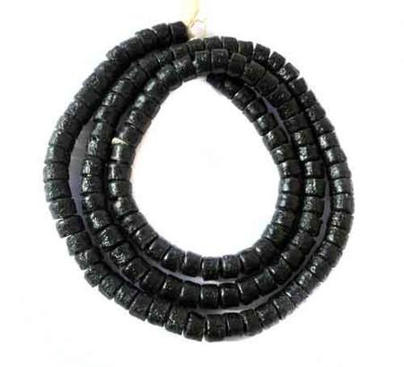 Ghana Black Krobo Recycled Disk Glass African trade beads