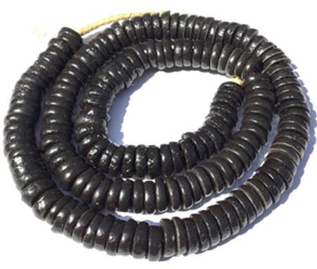 169 Ghana recycle Glass handmade Krobo Black Disk African trade