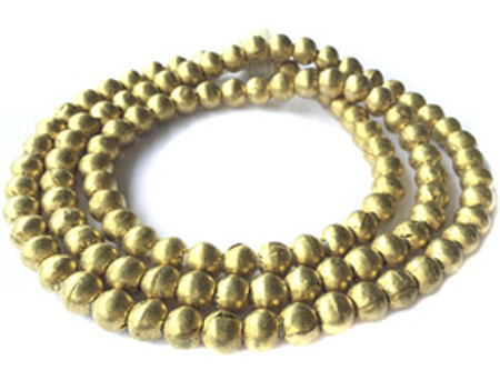 102 Big hole Africa Authentic Natural Brass Ethiopian beads