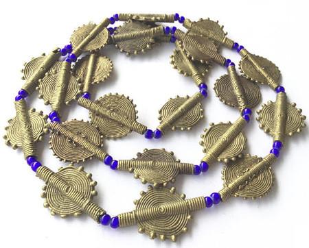 Baule African Mixed tribe handmade brass Trade Beads