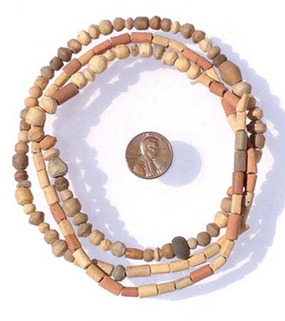 Mali Earth tone African Clay Trade Beads