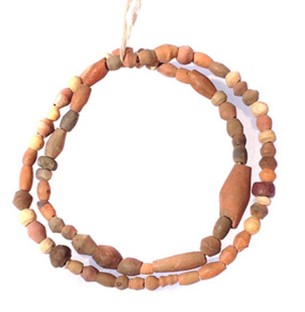 African Mali earth tone Clay Trade Beads