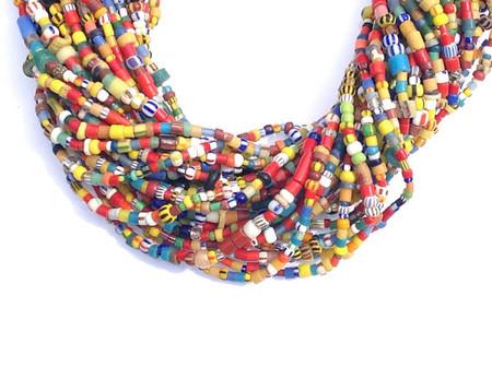 Medium Vintage Christmas seed beads one strand