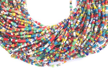 Small Vintage Christmas seed beads single strand