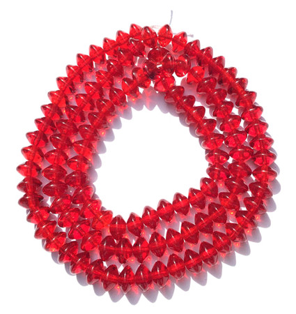 Trade Czech Smooth Red Vaseline Shape Bohemian Glass beads