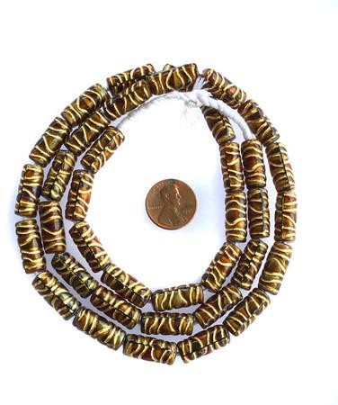Beautiful Vintage czech cylinder Glass trade beads