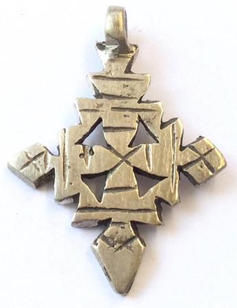 Ethiopian African Coptic Ethnic Antique Silver Pendant