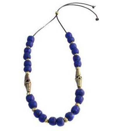 Awura Cobalt Sea Glass Necklace
