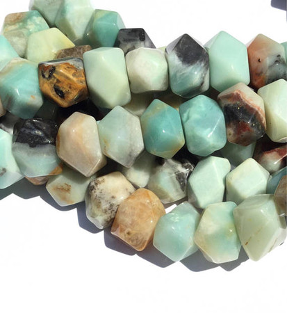 African Turquoise Rondelle Gemstone beads