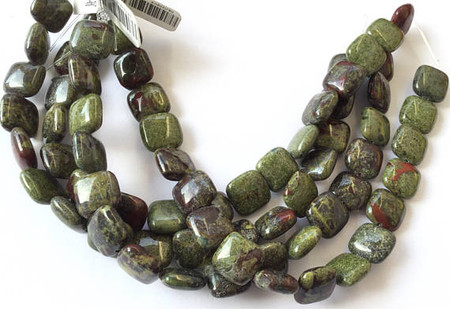 Fine Natural Dragon Blood Jasper Square Gemstone beads Beading