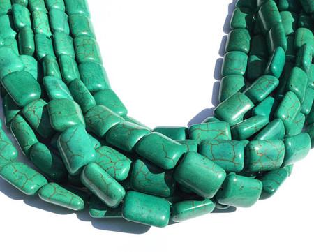 Green Turquoise Nugget Gemstone beads
